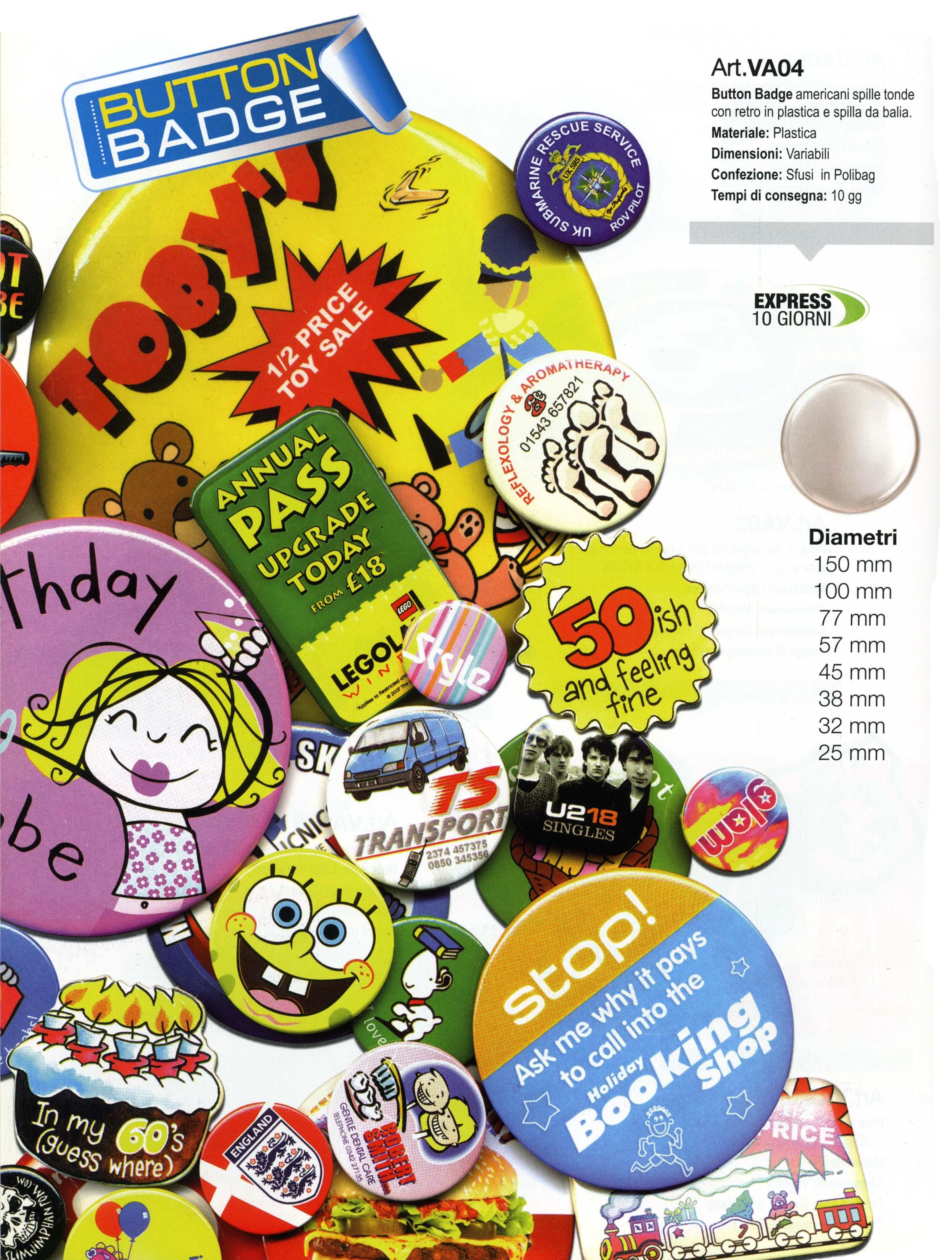 Spille badge personalizzabili