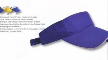 Visiera parasole in cotone