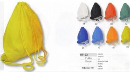 Sacca zaino nylon