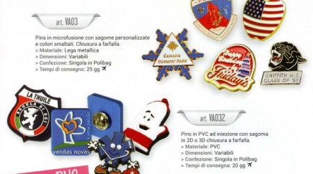 Spille pins personalizzabili